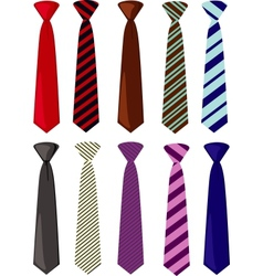 Colored ties vector