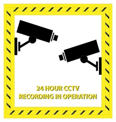24 hour cctv recording vector