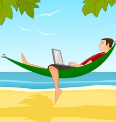 Work on a beach vector