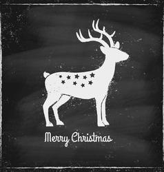 deer chalk vector image