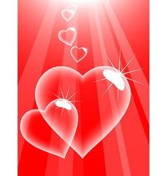 Love bubbles vector