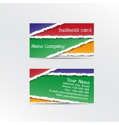 Realistic torn paper business card vector