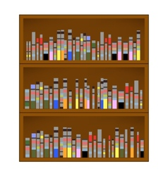 Books are on the bookshelf vector