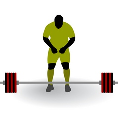 silhouette of weightlifter vector image
