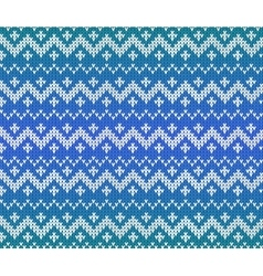Blue knitted scandinavian ornament seamless vector