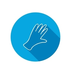 Rubber gloves icon protection mitten symbol vector