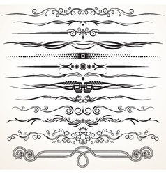 Ornate vintage borders and rule lines vector