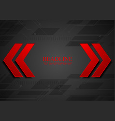 Abstract geometric corporate background with red vector