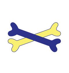 bones in cross danger symbol to caution alert vector image