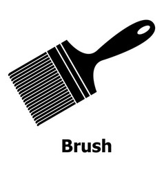brush icon simple black style vector image