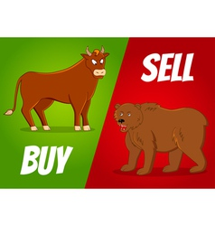 Bull and bear vector