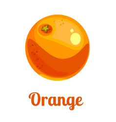 cartoon logo orange vector image vector image