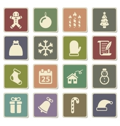 Christmas simply icons vector