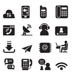 Communication technology icons set 2 vector