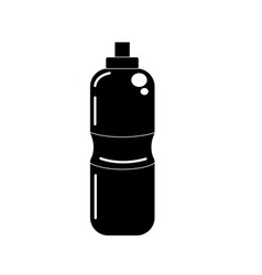 Contour bottle of water to reshness in the gym vector