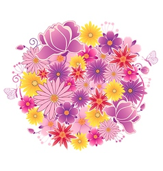 Decorative flowering planet vector