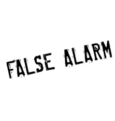 False alarm rubber stamp vector