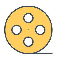 film reel line icon cinema production symbol vector image