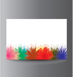 Flower banner with place for text vector image