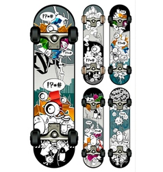 graffiti skateboards vector image vector image