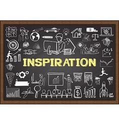 Inspiration on chalkboard vector