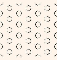 minimalist seamless pattern hexagonal grid vector image vector image