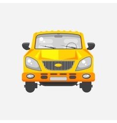 Minivan car front view vector