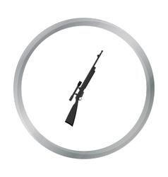 Rifle sniper gun icon cartoon single weapon icon vector