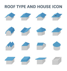 Roof type icon vector