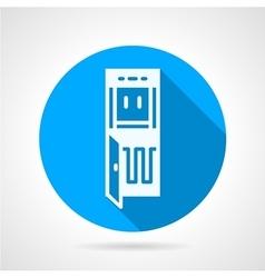 Running water purifier blue round icon vector