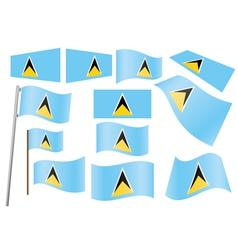 Saint Lucia Flag vector image vector image