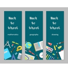 set vertical banners mathematics geography vector image vector image