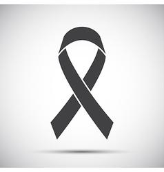 Simple grey ribbon icon vector