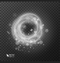 Texture of christmas snowstorm isolated on vector