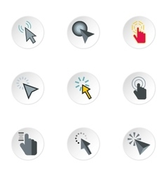 Types of arrows icons set flat style vector image vector image