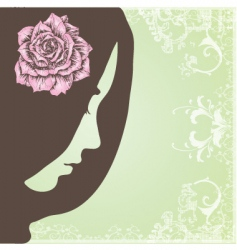vintage elegant lady vector image vector image