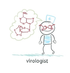 Virologist thinking about the formula vector