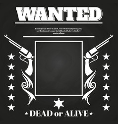 wanted poster design with western elements vector image vector image