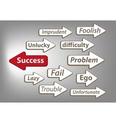 Way to success arrow graphic vector