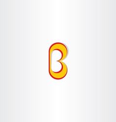 Yellow red logo of letter b icon vector