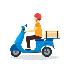 Courier delivering pizza vector