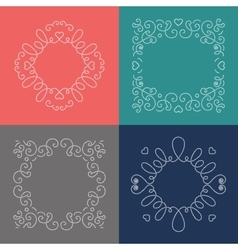 Rope frames decorative nautical frame marine vector