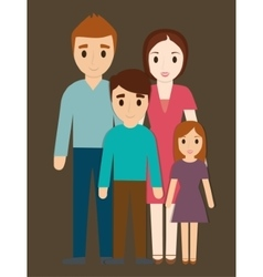 Parents and kids family design vector
