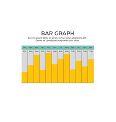 Bar graph infographic element vector