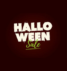 halloween sale text logo vector image