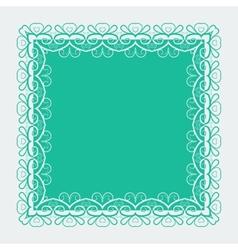 Ornamental lace square border vector