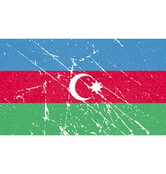 Flag of azerbaijan with old texture vector