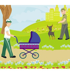 Relax in the park vector