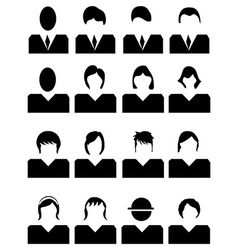 People avatar icons set vector