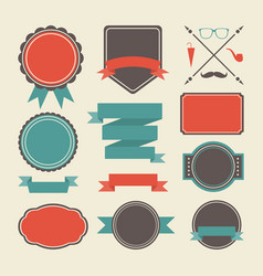 480retro label vector image